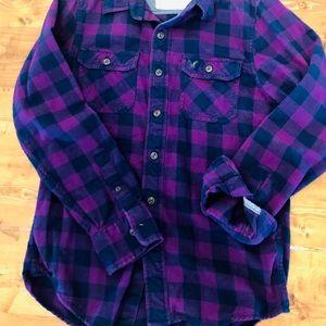 American Eagle Plaid Flannel Button Down - size S